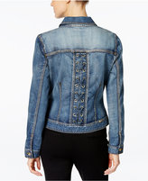 INC International Concepts Lace-Up-Back Denim Jacket, Only at Macy's
