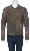 Rick Owens Suede Zip-Up Jacket