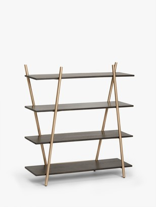 John Lewis & Partners + Swoon Carson Low Shelving Unit, Dark Brown