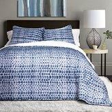 Lush Decor 3 Piece Pebble Creek Tie Dye Sherpa Quilt Set, Full/Queen, Navy