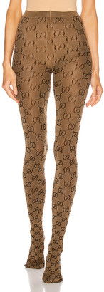Gucci GG Tights in Beige & Brown | FWRD