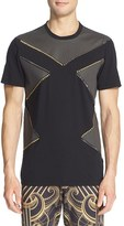Versace Men's Studded Colorblock T-Shirt