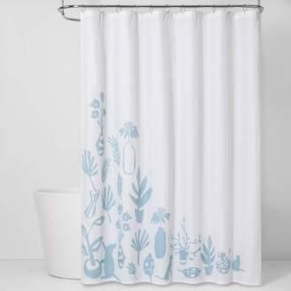 Room Essentials CVC Shower Curtain Antiquity Blue - Room EssentialsTM