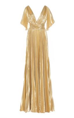 ZUHAIR MURAD Azdorado Plisse Silk-Blend Gown