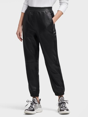 DKNY Leather Jogger Pant