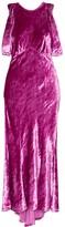 ATTICO The Asymmetric Velvet Midi Dress