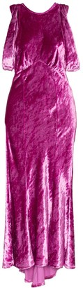 ATTICO Asymmetric Velvet Midi Dress