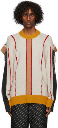 Ambush Beige Colorblocked Folding Sweater