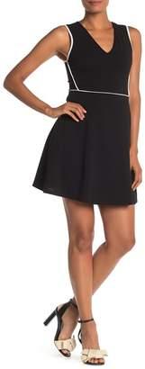 Vanity Room Sleeveless V-Neck Fit & Flare Dress