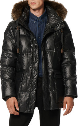 Andrew Marc Men's Quilted Down Parka w/ Faux Fur