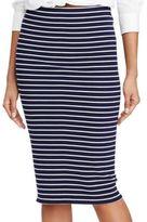Polo Ralph Lauren Striped Rib-Knit Pencil Skirt