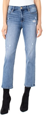 Liverpool Los Angeles Ripped Ankle Straight Leg Jeans