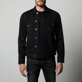 DSTLD Mens Denim Jacket in Jet Black
