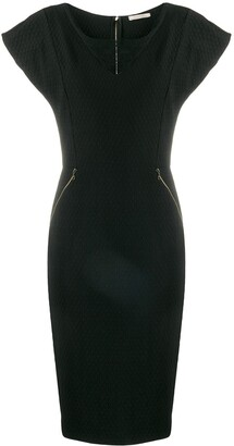 Nina Ricci Pre Owned Mesh Panel Dress