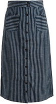 Ace&Jig Bo high-rise striped cotton skirt