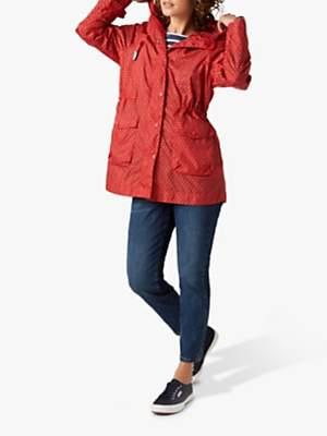 White Stuff Pac A Mac Jacket, Red