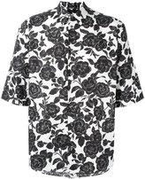 MSGM roses print shortsleeved shirt - men - Cotton - 40