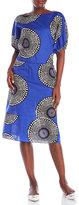 Marni Printed Cotton Dolman Sleeve Midi Dress