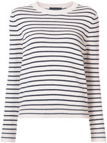 Jenni Kayne striped crew neck sweater - women - Cotton/Cashmere - XS