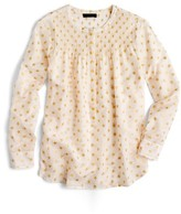 J.Crew Women's Metallic Star Print Popover Top