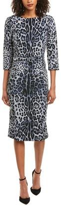 Samantha Sung Charlie Wool & Silk-Blend Midi Dress