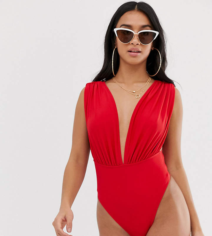 63dfe1891 Deep Plunging Swimsuit - ShopStyle