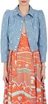 Marc Jacobs Women's Studded Eyelet Denim Crop Jacket