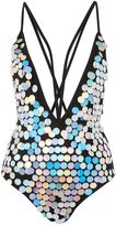 Jaded London **Festival Silver Sequin Swimsuit