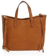 Sole Society Court Whipstitch Tote - Brown