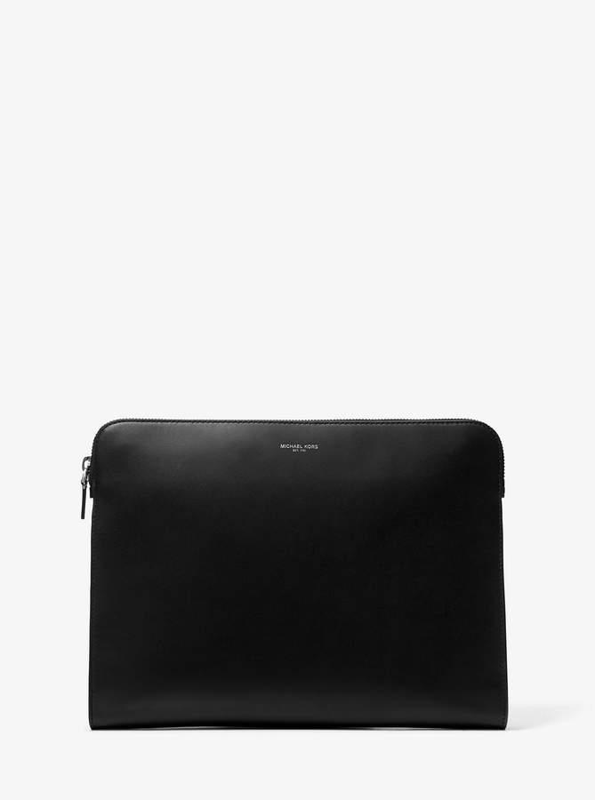 Michael Kors Henry Leather Portfolio Case