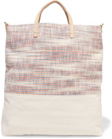 Clare Vivier Matilde woven canvas and textured-leather tote