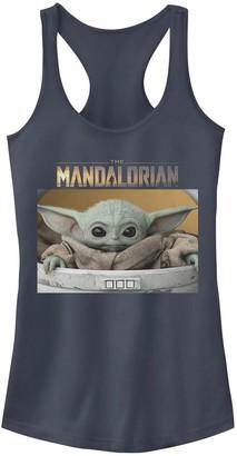 Star Wars Juniors' The Mandalorian The Child aka Baby Yoda Portrait Graphic Tank Top