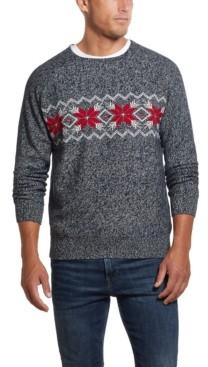 Weatherproof Vintage Men's Crew Neck Snowflake Sweater
