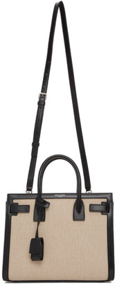 Saint Laurent Beige and Black Baby Sac De Jour Tote