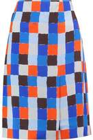 Emilio Pucci Checked Crepe Skirt