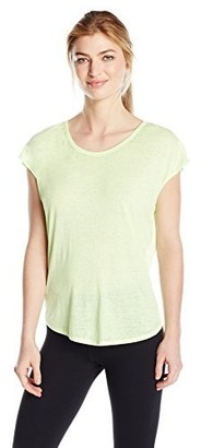 Betsey Johnson Women's Strappy Back ICY Wash Wedge Tee