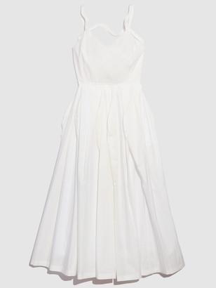 Nancyboo Curved Detail Midi Dress