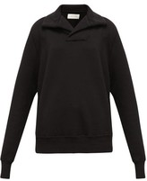 Les Tien - Yacht Open-collar Cotton Sweatshirt - Womens - Black