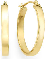 FINE JEWELRY 14K Yellow Gold 19.9mm Flat Hoop Earrings