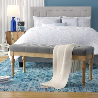 Bungalow Rose Brockwell Button Tufted Upholstered Bench Color: Gray