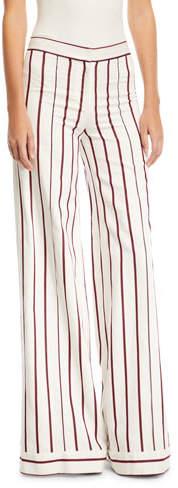 Alexis Niel Striped Wide-Leg Pants