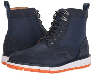 Swims Motion Wing Tip Boot (Navy/Orange) Men's Boots