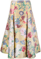Valentino floral brocade skirt - women - Silk/Cotton/Polyester/Metallized Polyester - 38