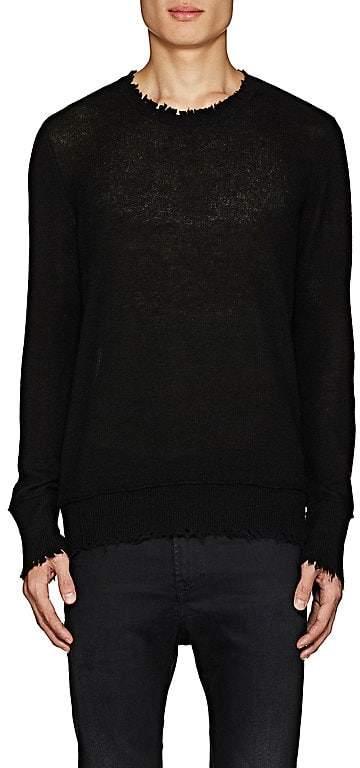 R 13 Men's Distressed Cashmere Sweater