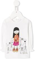 Little Marc Jacobs ruffled printed T-shirt