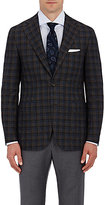 Canali Men's Plaid Two-Button Sportcoat-BROWN