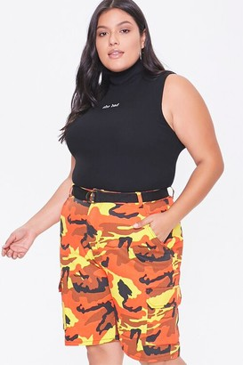Forever 21 Plus Size Camo Cargo Shorts
