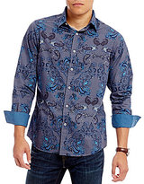 Daniel Cremieux Jeans Big and Tall Paisley Long-Sleeve Woven Shirt