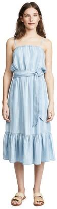 BB Dakota by Steve Madden Women's Tailyn Striped Tie Front Midi Dress
