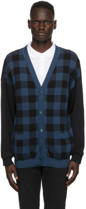 Moschino Blue and Black Check Fantasy Cardigan